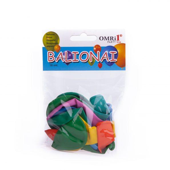 Balionai spalvoti OMRi1 d13cm 10